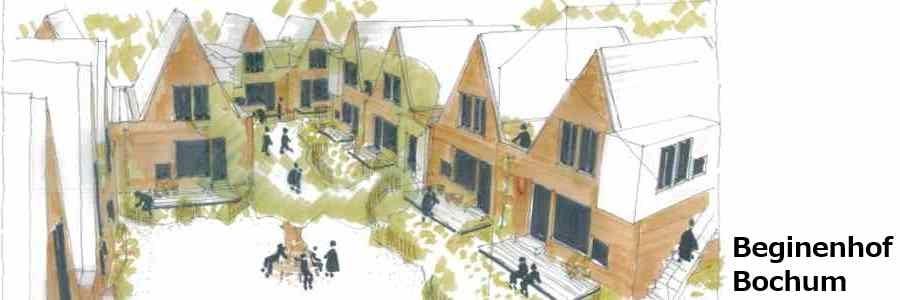 Architektengrafik des Hofes